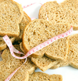 bread with measuring tape